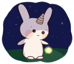 Little unicorn bunny sticker #5325183