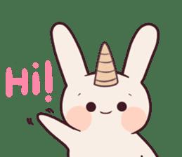 Little unicorn bunny sticker #5325186