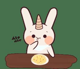 Little unicorn bunny sticker #5325187