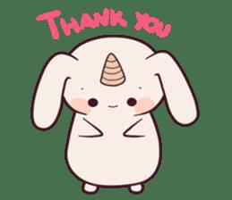 Little unicorn bunny sticker #5325188