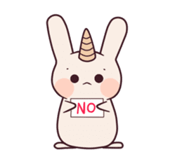 Little unicorn bunny sticker #5325189