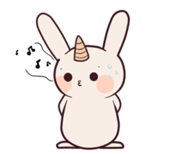Little unicorn bunny sticker #5325190