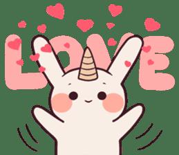 Little unicorn bunny sticker #5325191