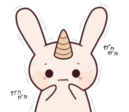Little unicorn bunny sticker #5325192