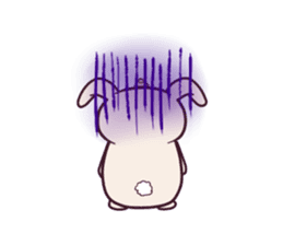 Little unicorn bunny sticker #5325194