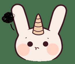 Little unicorn bunny sticker #5325195