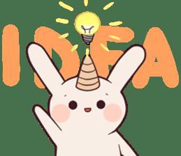 Little unicorn bunny sticker #5325196