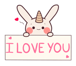 Little unicorn bunny sticker #5325198