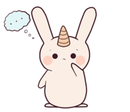 Little unicorn bunny sticker #5325199