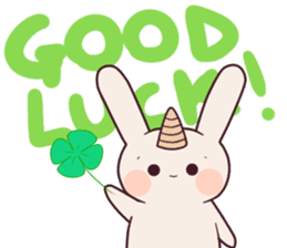 Little unicorn bunny sticker #5325200