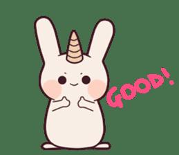 Little unicorn bunny sticker #5325201