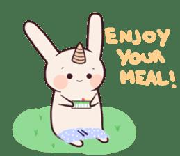 Little unicorn bunny sticker #5325202