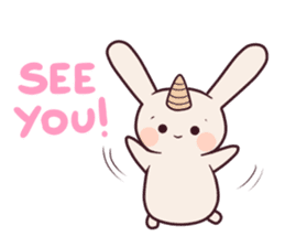 Little unicorn bunny sticker #5325203