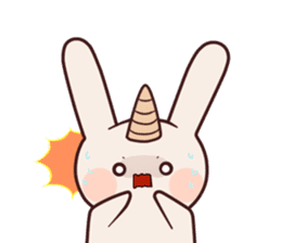 Little unicorn bunny sticker #5325204