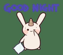 Little unicorn bunny sticker #5325205