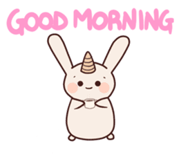 Little unicorn bunny sticker #5325206