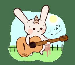 Little unicorn bunny sticker #5325208