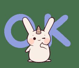 Little unicorn bunny sticker #5325210
