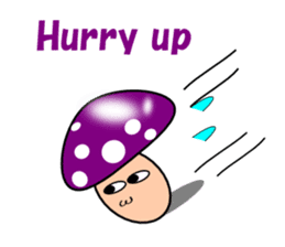 Loose mushrooms English sticker #5328204