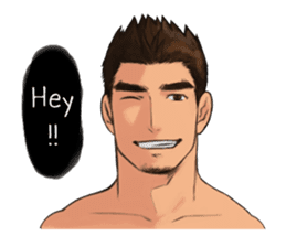 Muscular guy sticker #5336981