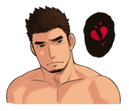 Muscular guy sticker #5336983