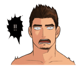 Muscular guy sticker #5336984