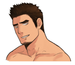 Muscular guy sticker #5336985