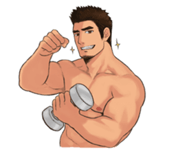 Muscular guy sticker #5336991