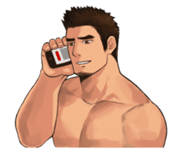 Muscular guy sticker #5337002
