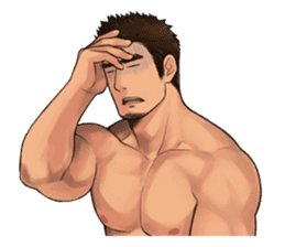 Muscular guy sticker #5337005