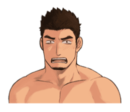 Muscular guy sticker #5337015