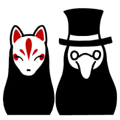Plague mask and Mask of the fox