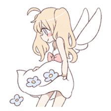 An angel of a girl sticker #5346678