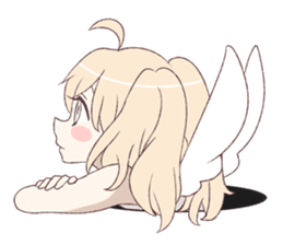 An angel of a girl sticker #5346681