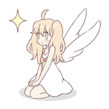 An angel of a girl sticker #5346683