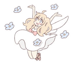 An angel of a girl sticker #5346689