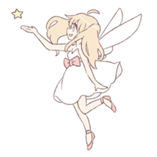 An angel of a girl sticker #5346702