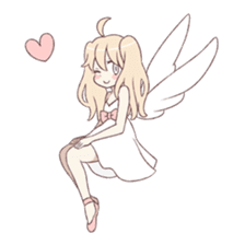 An angel of a girl sticker #5346704