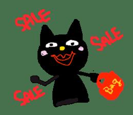 gayblack cat sticker #5348464