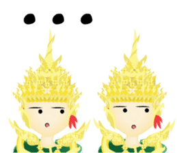 Lai Kanok Cartoon thai sticker #5351470