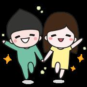 สติ๊กเกอร์ไลน์ Mogoon and Moyang in love