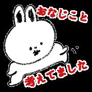 สติ๊กเกอร์ไลน์ pretty rabibt usako_chan