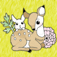 fawn and bunny.
