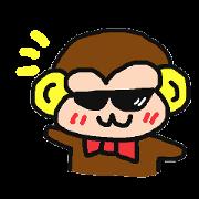 สติ๊กเกอร์ไลน์ Monkey of sunglasses