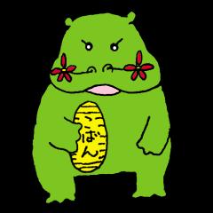 Flower hippopotamus
