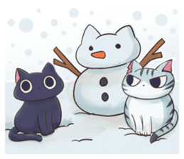 STRAYCATS in fall and winter sticker #5370717