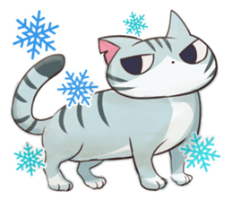 STRAYCATS in fall and winter sticker #5370720
