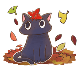 STRAYCATS in fall and winter sticker #5370726