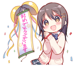 Cheerleader's girl sticker #5385356