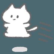 สติ๊กเกอร์ไลน์ The white kitten stickers 2